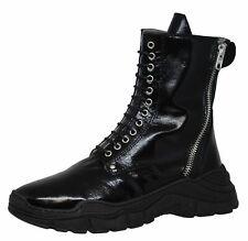 Momino 3990 Boots Stiefel Stiefeletten Leder Lammfell Schwarz Gr. 35 - 40 Neu