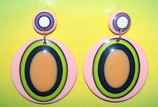 60's or 70's Circle Disco Funky Hippie Girl Earrings