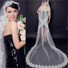 80CM/300CM Lacework Graceful Flower Edge Mantilla Wedding Part Dress Veil QY