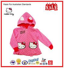 GENUINE AUS LICENSED Kids Girls Hello Kitty Hooded Fleece Zip Jacket SALE