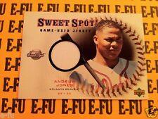 2001 UD Sweet Spot # J-AJ ANDRUW JONES Game Used Atlanta Braves Jersey