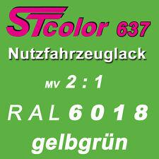 2K Lack Autolack NFZ 2:1 RAL 6018 gelbgrün Set 1,5kg