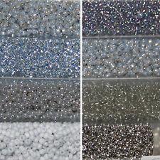 Miyuki Rocailles 11/0 rund 2 mm silber / hellgrau 300 Farben a ca. 5 o. 9,9 g