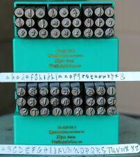 SUPPLY GUY 6mm Jenna Sue Font Metal Stamp Letter Set