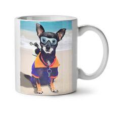 Sea Dog Dive Style Water Diver NEW White Tea Coffee Mug 11 oz | Wellcoda