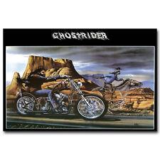 Ghost Rider David Mann Motorcycle Art Silk Poster Print 12x18 inch