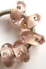 Wholesale Silver Lampwork Murano Glass Beads Fit European Charm Bracelet TF137