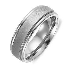 Men Women Plain Wedding Titanium Rings Sz4-16 MKUS050B