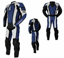 Kc206 Combinaison moto piste circuit 1 pièce KARNO cuir bleu BLUE-ANGEL