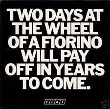 FIAT FIORINO VAN OFFERTA SPECIALE 1983 UK MARKET FOLDOUT SALES BROCHURE 127