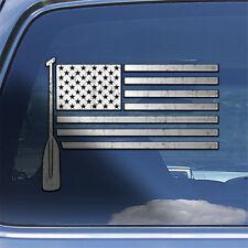 USA Flag Canoe Paddle Decal Sticker rowing rower canoe oar window decal sticker
