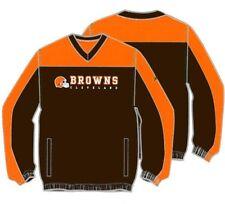 Cleveland Browns Reebok NFL Mens Pullover Hot Jacket, Brown/Orange, 5103A