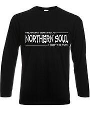 Les hommes à manches longues Superdry Nord Soul T-shirt garder la foi funk funky dance club Ace