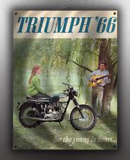 VINTAGE TRIUMPH 1966 MOTORCYCLE AD BANNER