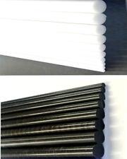 Black White Delrin Acetal Rod Engineering Plastic Round Bar Billet Dia 5-15mm