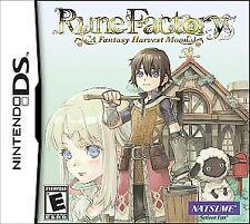 Nintendo DS Rune Factory: A Fantasy Harvest Moon VideoGames