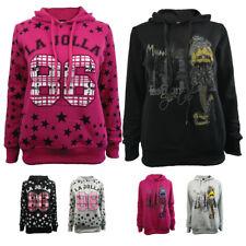 AMAVISSE UK - (RRP£15) Women Girl Fashion Original Printed Hoodie Jumper Sweater