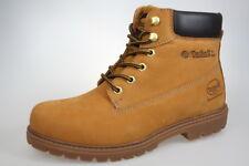 DOCKERS bottes bottes à lacets bottes jaune, cuir, doublure tissu NEUF