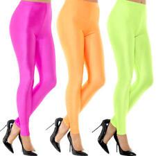 Neon 80 s DISCO Spandex Leggings pour Femme Déguisement Disco Adulte Costume Accessoire