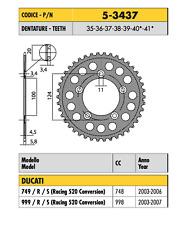 5-3437 CORONA ERGAL PASSO 520 DUCATI 999 / R / S (Racing 520 Conversion) 2006