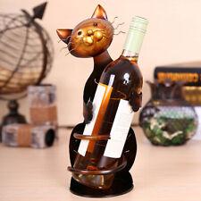 ab7ce2228 Cute Cat Shaped Wine Holder Wine shelf Metal Cartoon Figurine Storage  Shelves