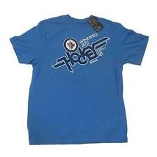 New NHL Men's Winnipeg Jets Hockey T-Shirt Medium-2XLarge Sky BLue