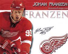 Johan Franzen Signed Detroit Red Wings 8x10 Photo - COA - Sweden - NHL