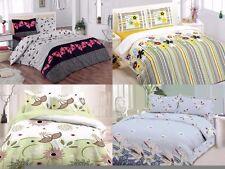 3 Piece Floral Duvet Cover 100% Cotton Soft Bedding Set Reversible Queen/King