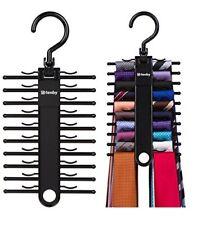 2 Pcs Tie Hanger Rack Organizer Rotating Belt Holder Closet Hook Storage Necktie