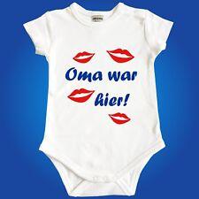 Baby Body Strampler - Mama Oma Tante war hier - Frei wählbar - Babyparty Geburt