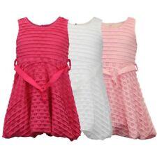 Filles Enfants sans manche RUBAN évasé robe doublée