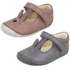 ' para niña Clarks ' punta redonda Primeros Zapatos Con Conejo Diseño - Little