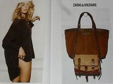 PUBLICITE  2012  ZADIG & VOLTAIRE  haute couture hiver ( 2 pages)