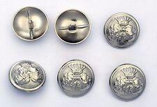 6 bottoni in metallo - STEMMA ARALDICO CON CORONA - heraldry crown buttons