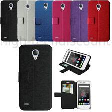 Housse etui coque pochette portefeuille pour Alcatel One Touch Go Play + film