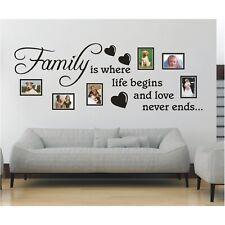 Spruch WANDTATTOO Family is life love Bilderrahmen Foto Wandsticker Aufkleber 1