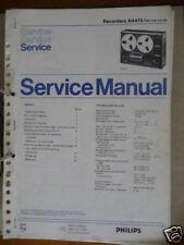 Service Manual Philips N 4415 Tonbandmaschine,ORIGINAL