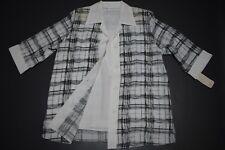 Damen Twinset 3/4 Arm Bluse und Top ..Größe M,XXL in schwarz/Weiß