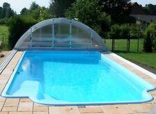 Funpaket GFK Schwimmbecken 8x3,7x1,55 Pool vollisoliert Komplettset Einbaubecken