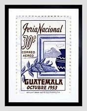 POSTAGE STAMP GUATEMALA 30 THIRTY CENTS OCTOBER 1953 CORN FRAMED PRINT B12X10029