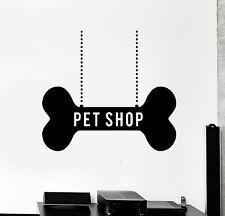 Vinyl Wall Decal Pet Shop Decor Dog Bone Art Stickers Murals (ig4708)