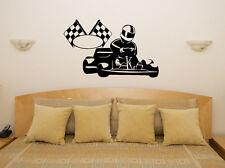 Go Kart - RACING VELOCE divertente auto veicolo Adesivo Parete decalcomania arte