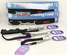 Half Check formation collier de chien & Assorti Couleur Halti Training Laisse Noir Set