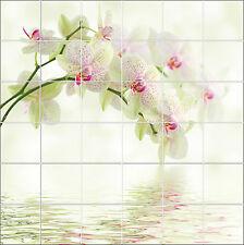 Sticker carrelage mural,faience,déco cuisine ou salle de bain Orchidee ref1923