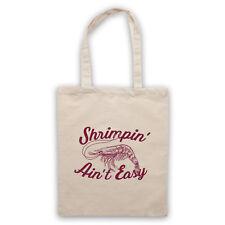 SHRIMPIN' AIN'T EASY SHRIMP PARODY SLOGAN FUNNY SLANG SHOULDER TOTE SHOP BAG