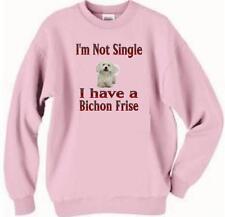 Dog Sweatshirt - I'm Not Single I Have A Bichon Frise-Dog T Shirt Available # 2