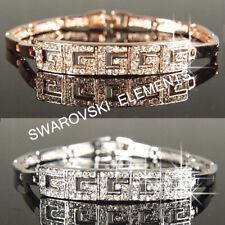 18K Rose / White Gold Filled made with Swarovski Crystal Bracelet Xmas Gift b216
