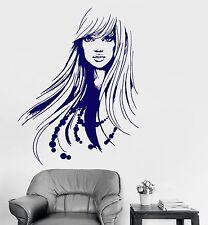 Vinyl Decal Wall Beauty Salon Fashion Hairdresser Long Hair Stickers (903ig)