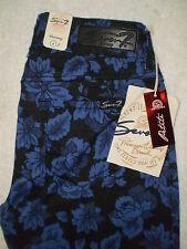 Seven 7 Premium Stretch Women Skinny Floral Print Jeans Size 4P, 8P L28 New $74