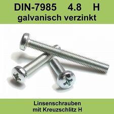M 2,5 DIN 7985 verzinkte Linsenkopfschrauben Kreuzschlitz Linsenschrauben M2,5x